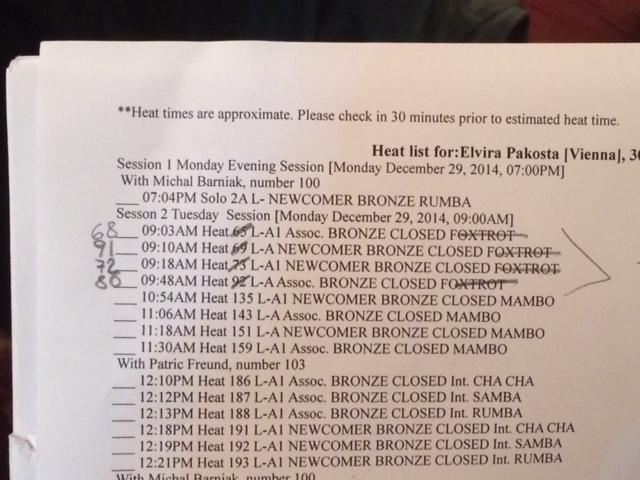 Rozpis tancov na PRO/AM súťaži