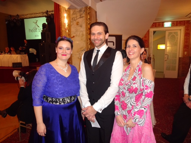 Na súťaži Waltz Darling vo Viedni. Kori, Michal a Heike